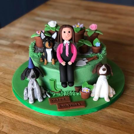 Gardening Birthday Cake | Kingfisher Bakery, Wiltshire, UK