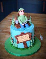 Fishing Retirement Cake | Kingfisher Bakery, Wiltshire, UK
