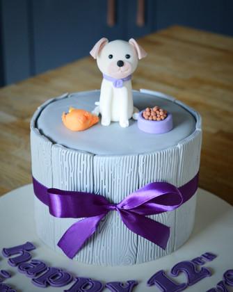 Puppy Birthday Cake | Kingfisher Bakery, Wiltshire, UK