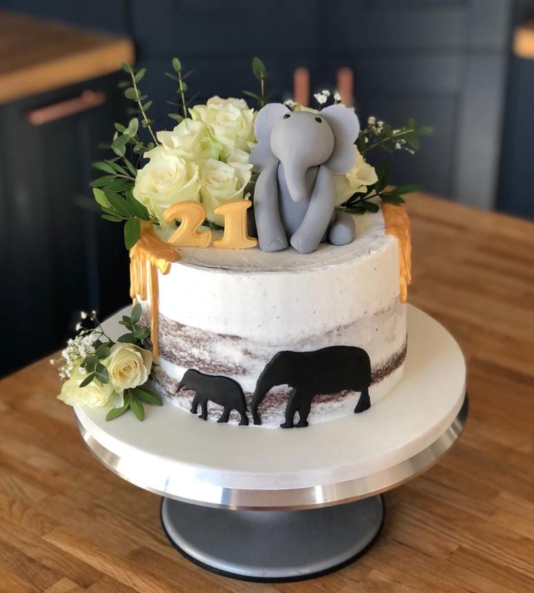 Elephant Birthday Cake | Kingfisher Bakery, Wiltshire, UK