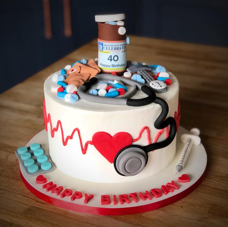 Nurse Doctor Hospital Cake | Kingfisher Bakery, Wiltshire, UK