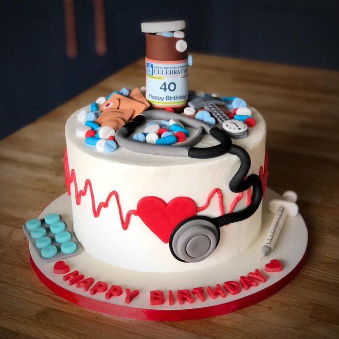 Nurse Doctor Hospital Cake | Kingfisher Bakery, Wiltshire, UK