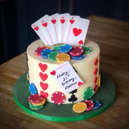 Poker Themed Cake | Kingfisher Bakery, Wiltshire, UK