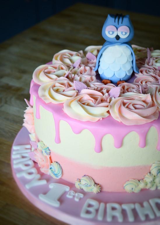 Owl Birthday Cake | Kingfisher Bakery, Wiltshire, UK