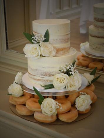 Doughnut Wedding Cake | Kingfisher Bakery, Wiltshire, UK