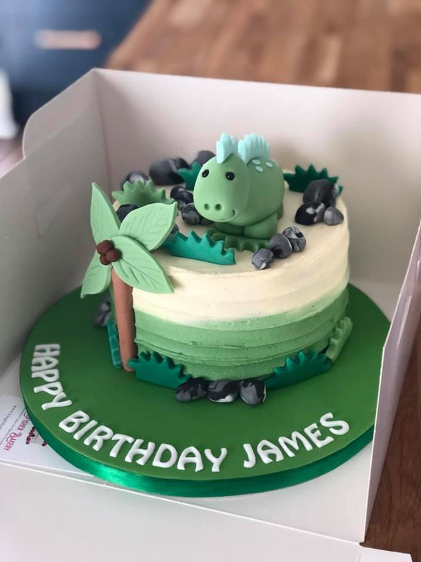 Mini Dinosaur Cake | Kingfisher Bakery, Wiltshire, UK