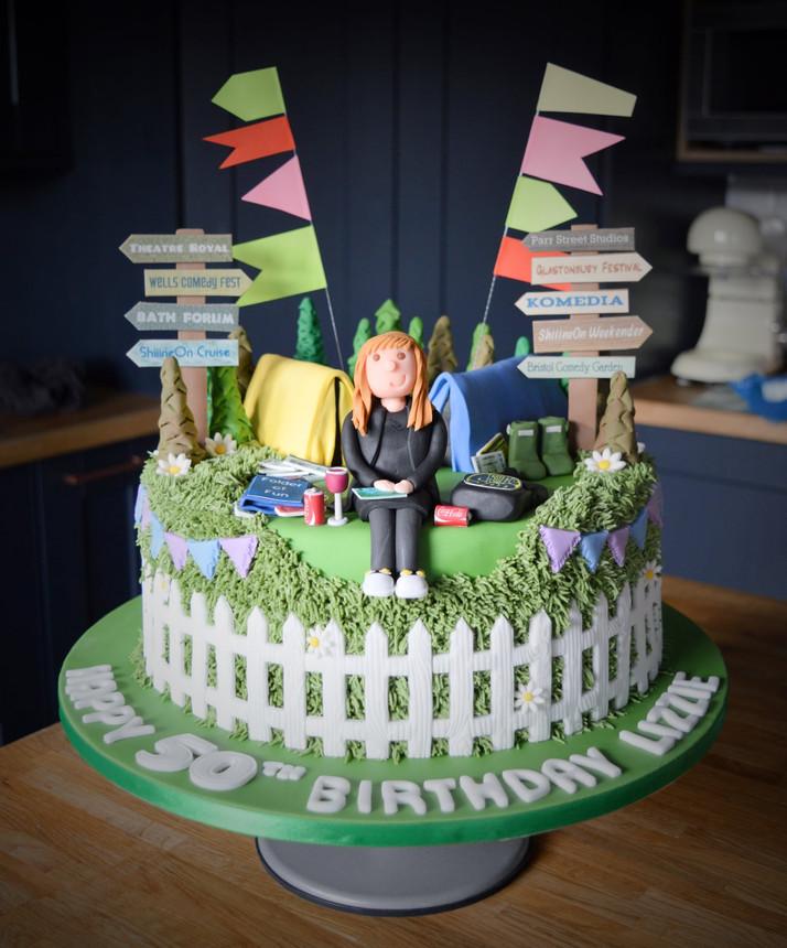 Festivals / Camping Birthday Cake | Kingfisher Bakery, Wiltshire, UK