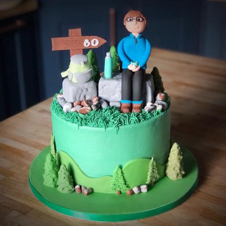 Hiking / Walking Cake | Kingfisher Bakery, Wiltshire, UK