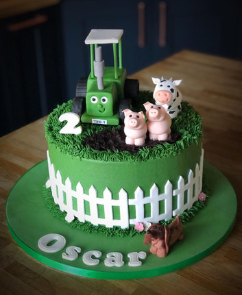 Tractor Ted Birthday Cake | Kingfisher Bakery, Wiltshire, UK