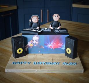 Chemical Brothers DJ Cake | Kingfisher Bakery, Wiltshire, UK