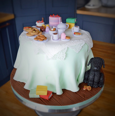 Afternoon Tea Birthday Cake | Kingfisher Bakery, Wiltshire, UK