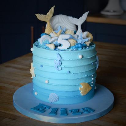 Mermaid Birthday Cake | Kingfisher Bakery, Wiltshire, UK