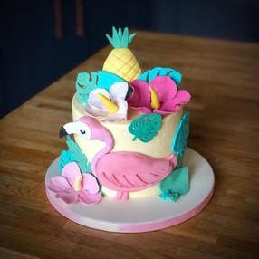 Flamingo Birthday Cake | Kingfisher Bakery, Wiltshire, UK