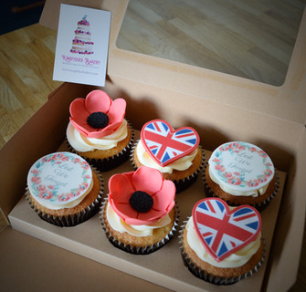 VE Day Cupcakes | Kingfisher Bakery, Wiltshire, UK