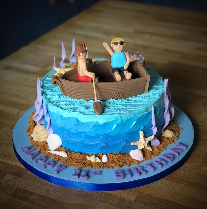 Rowing Boat Birthday Cake | Kingfisher Bakery, Wiltshire, UK