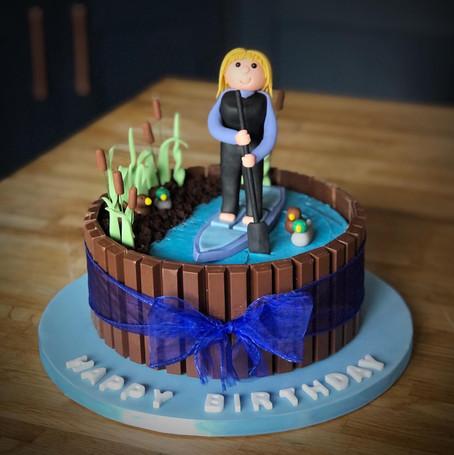 Paddle-boarding Birthday Cake | Kingfisher Bakery, Wiltshire, UK