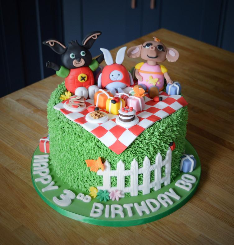 Bing & Friends Birthday Cake | Kingfisher Bakery, Wiltshire, UK
