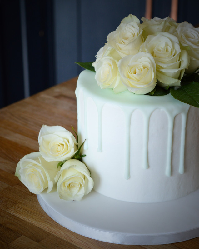 Pale Green Baby Shower Drippy Cake | Kingfisher Bakery, Wiltshire, UK