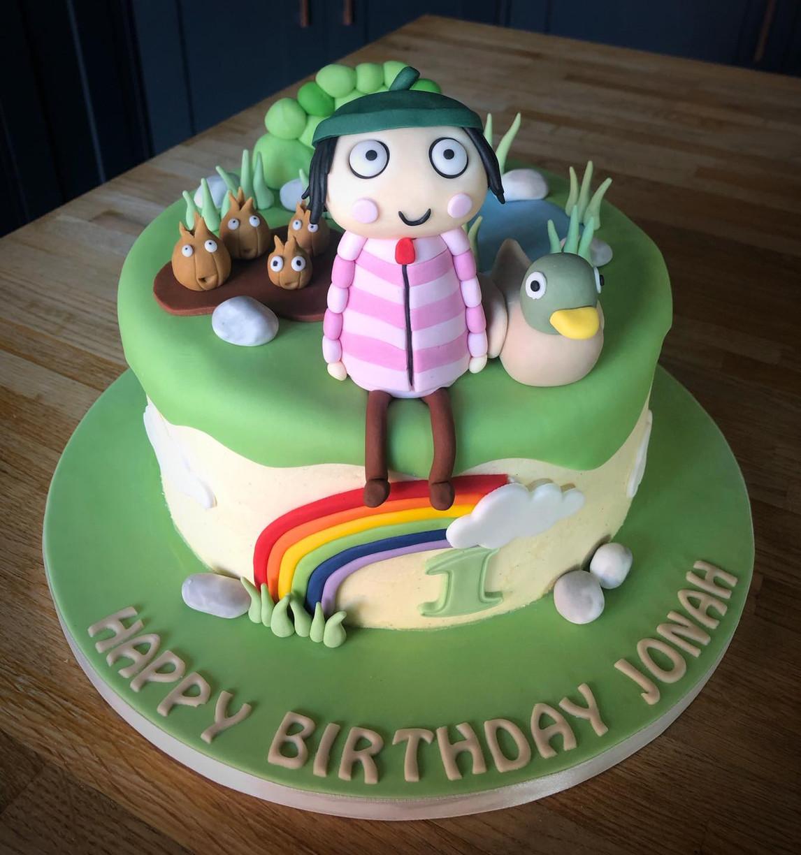 Sarah and Duck Birthday Cake | Kingfisher Bakery, Wiltshire, UK