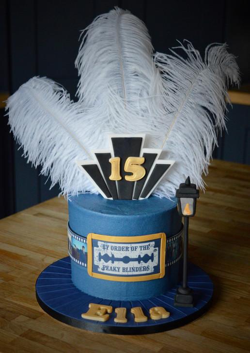 Peaky Blinders Birthday Cake | Kingfisher Bakery, Wiltshire, UK