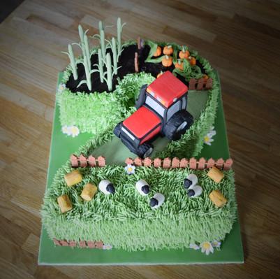 Farm & Tractor Birthday Cake | Kingfisher Bakery, Wiltshire, UK