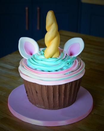 Giant Unicorn Cupcake | Kingfisher Bakery, Wiltshire, UK