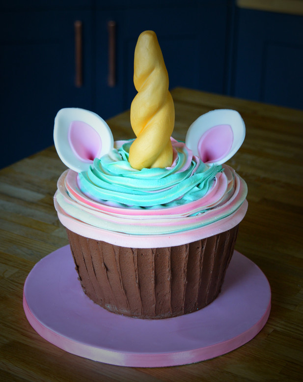 Giant Unicorn Cupcake | Kingfisher Bakery, Wiltshire, UK
