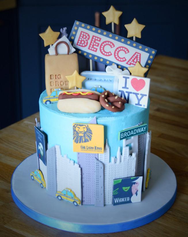 New York Birthday Cake | Kingfisher Bakery, Wiltshire, UK