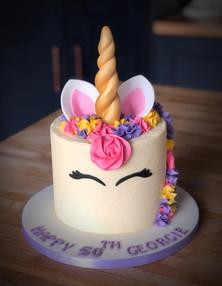 Unicorn Birthday Cake | Kingfisher Bakery, Wiltshire, UK