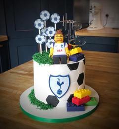 Football / Spurs & Lego Birthday Cake  | Kingfisher Bakery, Wilthsire, UK