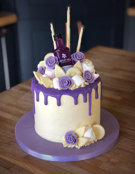 Purple Gin Drippy Cake | Kingfisher Bakery, Wiltshire, UK