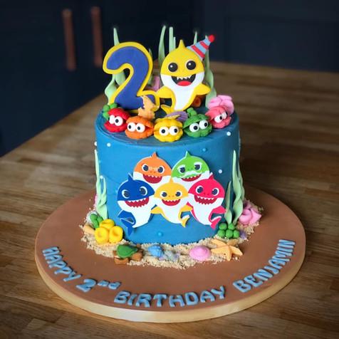 Baby Shark Birthday Cake | Kingfisher Bakery, Wiltshire, UK