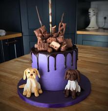Bespoke Drippy Cake | Kingfisher Bakery, Wiltshire, UK