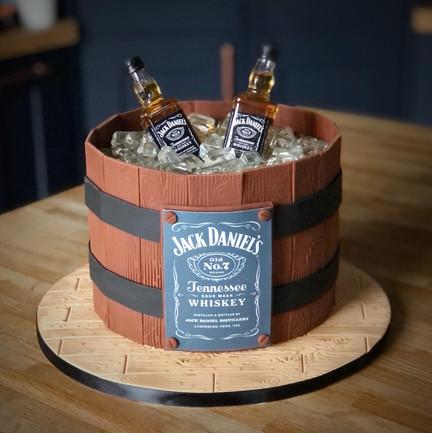 Jack Daniels Cake | Kingfisher Bakery, Wiltshire, UK