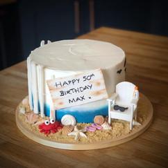 Beach / Holiday Birthday Cake | Kingfisher Bakery, Wiltshire, UK