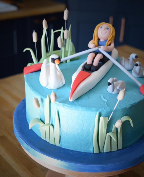 Sculling Birthday Cake | Kingfisher Bakery, Wiltshire, UK