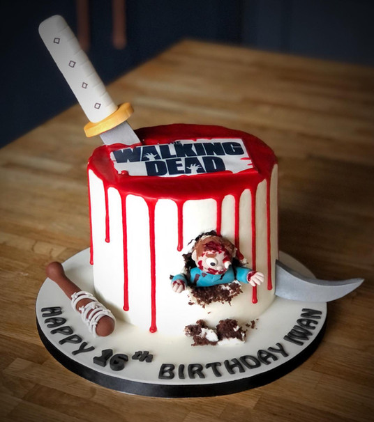 The Walking Dead Birthday Cake | Kingfisher Bakery, Wiltshire, UK