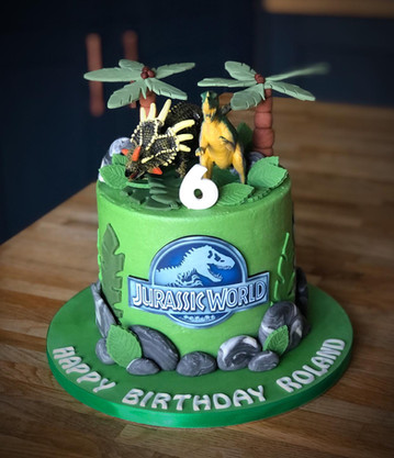 Jurassic World Birthday Cake | Kingfisher Bakery, Wiltshire, UK
