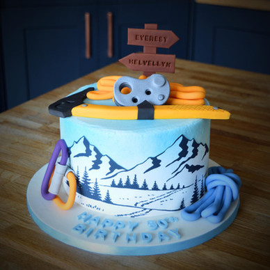 Mountaineering Birthday Cake | Kingfisher Bakery, Wiltshire, UK