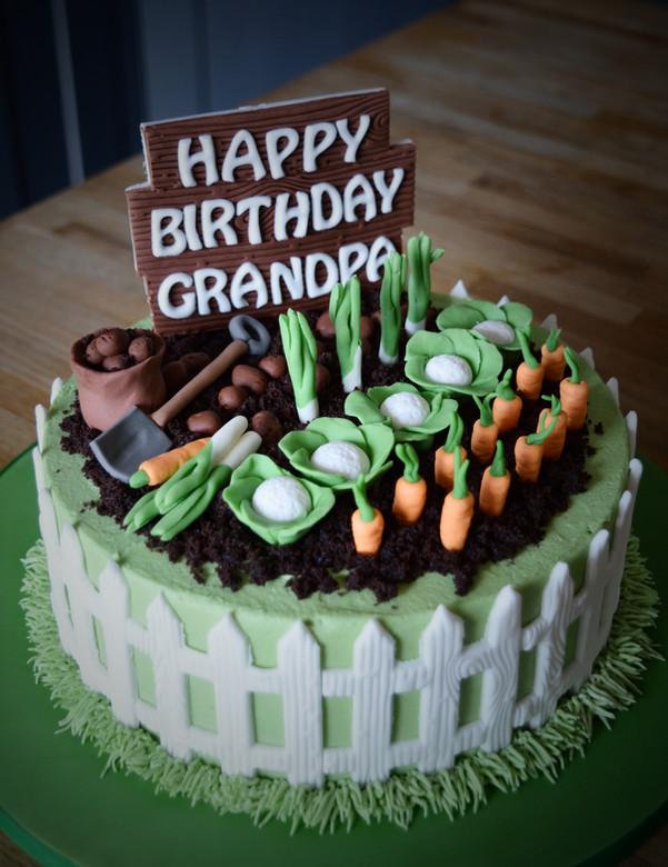 Allotment Birthday Cake | Kingfisher Bakery, Wiltshire, UK