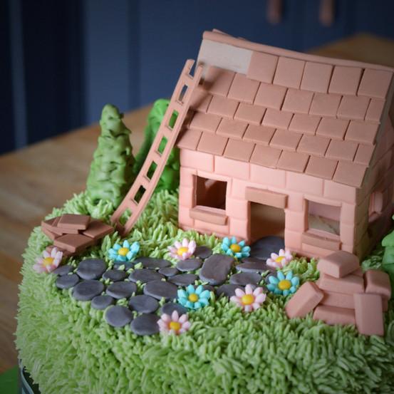 DIY House Birthday Cake | Kingfisher Bakery, Wiltshire