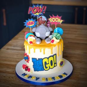Teen Titans Birthday Cake | Kingfisher Bakery, Wiltshire, UK