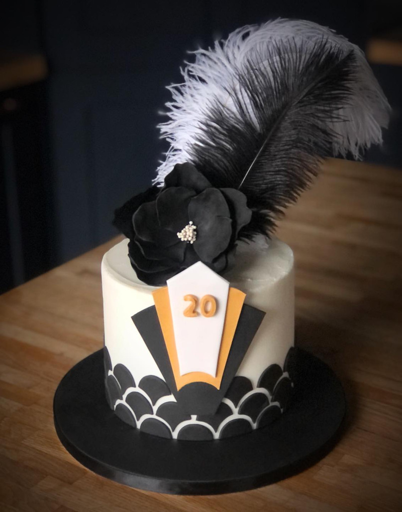 Art Deco Twenties Cake | Kingfisher Bakery, Wiltshire, UK
