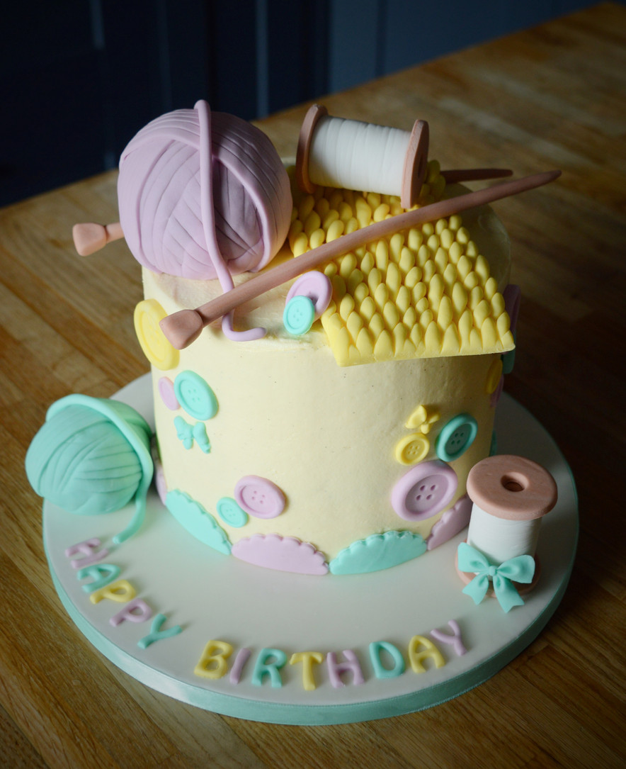 Knitting Birthday Cake | Kingfisher Bakery, Wiltshire, UK
