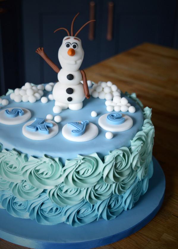 Olaf / Frozen Birthday Cake | Kingfisher Bakery, Wiltshire, UK