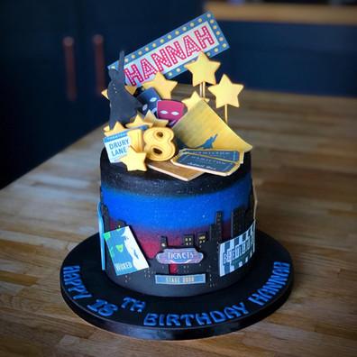 Musicals Themed Birthday Cake | Kingfisher Bakery, Wiltshire, UK