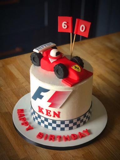 F1 Birthday Cake | Kingfisher Bakery, Wiltshire, UK
