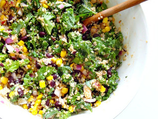 Spicy Kale & Quinoa Black Bean Salad