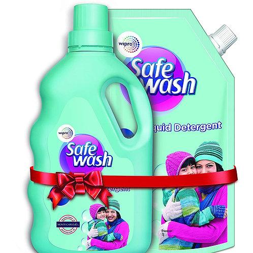 Safewash Woolen Liquid Detergent by Wipro, 1kg Bottle + 1kg Pouch Free