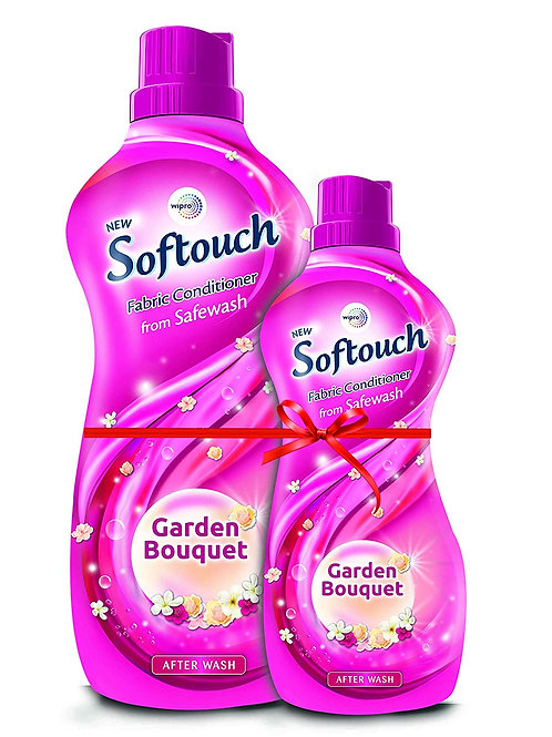 Softouch Garden Bouquet Fabric Conditioner by Wipro, 860ml + 400ml Free